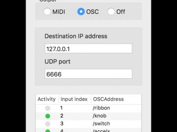 BlueMO: a Bluetooth LE to MIDI and OSC translator for Mac OS